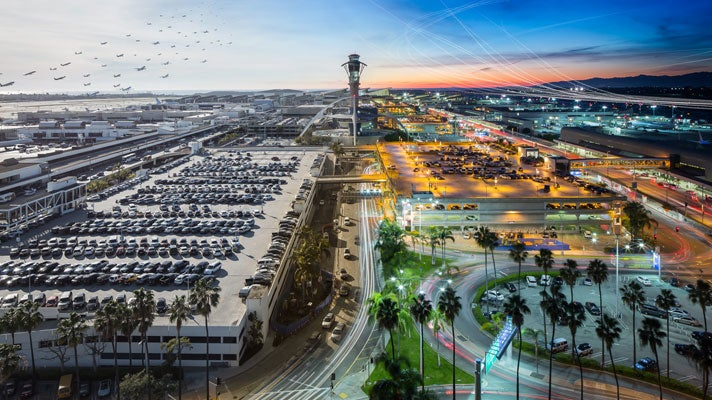 LAX time-lapse photo